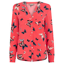 Buy Oasis Butterfly Shirt, Coral Online at johnlewis.com