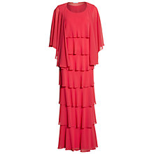 Buy Gina Bacconi Beaded Edge Tiered Maxi Dress And Shawl Online at johnlewis.com