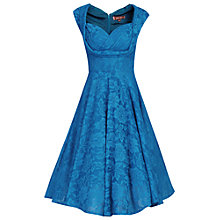 Buy Jolie Moi Cross Over Bust Pleated Lace Dress Online at johnlewis.com