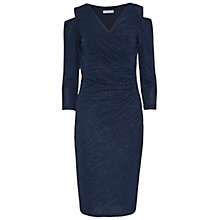 Buy Gina Bacconi Cutout Shoulder Sparkle Stripe Dress, Dark Blue Online at johnlewis.com