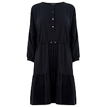 Buy Warehouse Tiered Smock Dress, Navy Online at johnlewis.com