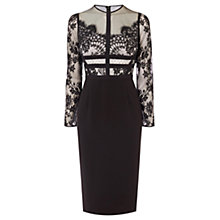 Buy Coast Malinda Lace Shift Dress, Monochrome Online at johnlewis.com