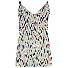 Buy Warehouse Zig Zag Cami Top, Multi Online at johnlewis.com