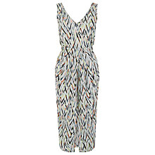 Buy Warehouse Print Zig Zag Wrap Dress, Multi Online at johnlewis.com