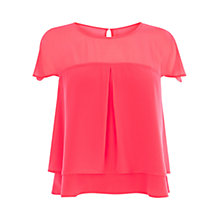 Buy Coast Evangeline Top, Pink Online at johnlewis.com