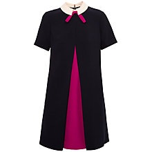 Buy Ted Baker Wonce Contrast Pleat Bow Tunic Dress, Navy Online at johnlewis.com