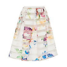 Buy Ted Baker Hoona Tapestry Floral Burnout Skirt, Pale Yellow Online at johnlewis.com