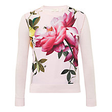 Buy Ted Baker Dalhii Citrus Bloom Woven Sweater, Nude Pink Online at johnlewis.com