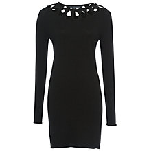 Buy French Connection Emily Knits  Jumper Dress, Black Online at johnlewis.com