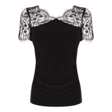 Buy Coast Gertrude Jersey Top, Black Online at johnlewis.com