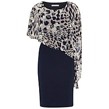 Buy Gina Bacconi Plain Dress With Animal Floral Cape, Navy Online at johnlewis.com