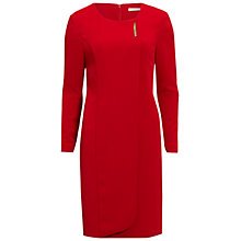 Buy Gina Bacconi Stretch Moss Crepe Dress With Gold Trim Online at johnlewis.com