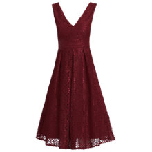 Buy Jolie Moi V-Neck Pleated Lace Dress Online at johnlewis.com