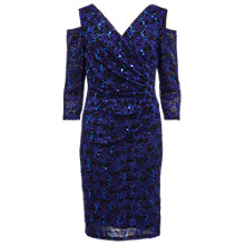 Buy Gina Bacconi Cut Out Shoulder Lace Dress, Royal Blue Online at johnlewis.com