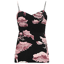 Buy Warehouse Oriental Forest Cami Top, Purple Online at johnlewis.com