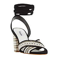 Buy Dune Janie Aztec Wrap Sandals, Black Online at johnlewis.com