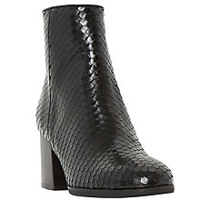 Buy Dune Black Pitche Ankle Boots, Black Reptile Online at johnlewis.com
