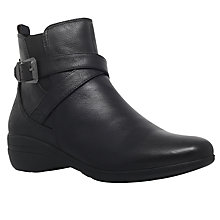 Buy Carvela Comfort Rally Ankle Boots, Black Online at johnlewis.com