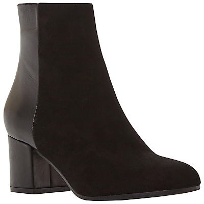 Dune Black Orsen Classic Block Heeled Ankle Boots, Black