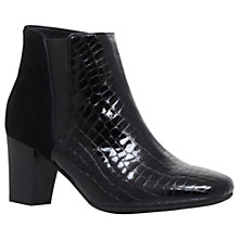 Buy Carvela Comfort Reed Block Heeled Ankle Boots, Black Online at johnlewis.com
