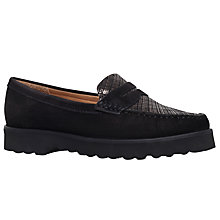 Buy Carvela Comfort Cater Flat Loafers, Black Online at johnlewis.com