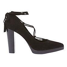 Buy Mint Velvet Eve Lace Up Court Shoes, Black Online at johnlewis.com