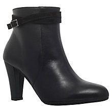 Buy Carvela Comfort Rolo Cone Heeled Ankle Boots, Black Online at johnlewis.com