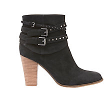 Buy Mint Velvet Margot Buckle Block Heeled Ankle Boots, Black Online at johnlewis.com