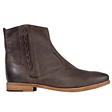 Buy Jigsaw Charlie Ankle Boots, Chocolate Online at johnlewis.com