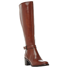 Buy Dune Black Tollie Blocked Heel Knee High Boots, Tan Online at johnlewis.com