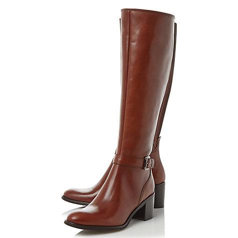 buy dune black tollie blocked heel knee high boots