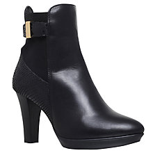 Buy Carvela Rae Cone Heeled Ankle Boots, Black Online at johnlewis.com
