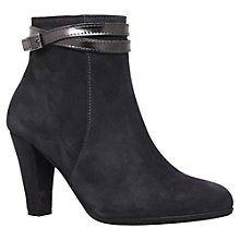 Buy Carvela Comfort Rolo Cone Heeled Ankle Boots, Grey Online at johnlewis.com