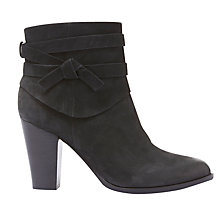 Buy Mint Velvet Geri Block Heeled Ankle Boots, Black Online at johnlewis.com