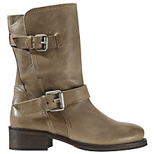 Buy Jigsaw Ruby Biker Calf Boots Online at johnlewis.com