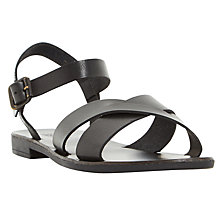 Buy Dune Lelde Cross Strap Sandals, Black Online at johnlewis.com