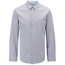Buy BOSS Green C-Bacchis Pin Check Shirt, Open Blue Online at johnlewis.com
