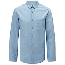 Buy BOSS Green C-Bansi Shirt, Open Blue Online at johnlewis.com