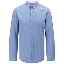 Buy BOSS Green C-Baldasar Pin Check Shirt, Open Blue Online at johnlewis.com