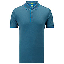 Buy BOSS Green C-Janis Modern Fit Polo Shirt, Open Blue Online at johnlewis.com
