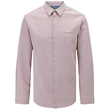 Buy BOSS Green C-Bacchis Shirt, Light Purple Online at johnlewis.com