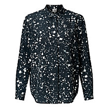 Buy Kin by John Lewis Ink Print Long Sleeve Shirt, Navy Online at johnlewis.com