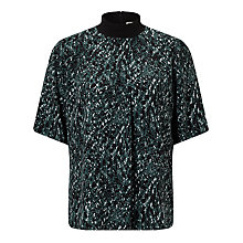 Buy Kin by John Lewis Kyoto Print Top, Teal Online at johnlewis.com