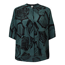 Buy Kin by John Lewis Hexagon Print Shirt, Teal Online at johnlewis.com