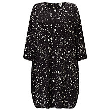 Buy Kin by John Lewis Ink Spot Print Dress, Black/White Online at johnlewis.com