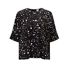Buy Kin by John Lewis Ink Print Pocket Top, Black/White Online at johnlewis.com
