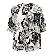 Buy Kin by John Lewis Hexagon Print Shirt, White Online at johnlewis.com