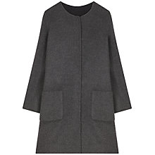 Buy Gerard Darel Flocon Coat, Grey Online at johnlewis.com