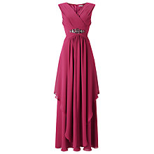 Buy Jacques Vert Maxi Hanky Hem Dress, Red Online at johnlewis.com