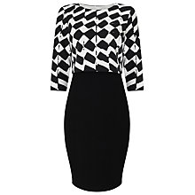 Buy Phase Eight Zig Zag Tiered Dress, Black/White Online at johnlewis.com